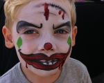 Scary Clown Face Painting